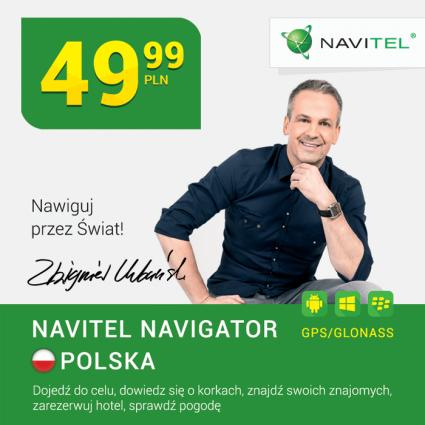 Mapa do urządzeń przenośnych z GPS/GLONASS NAVITEL Navigator Polska - Android/Windows/BlackBerry