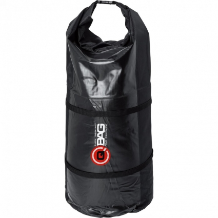 Torba Wałek na motocykl QBAG TREKKING BAG Black, Czarna 50 litrów