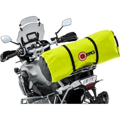 Torba Wałek na motocykl QBAG TREKKING BAG Neon Yellow, Żółta 50 litrów