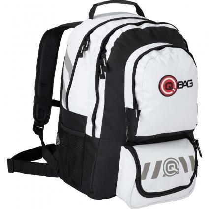 Plecak QBAG SUPERDEAL II White/ Black, Biały/ Czarny