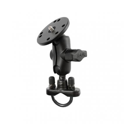 Uchwyt montowany do ramy kierownicy lub do podstawy hamulca/sprzęgła w motocyklu do montażu kamery/aparatu RAM-B-149ZA-C1U