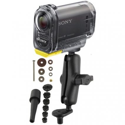 Uchwyt do kamer Sony Action Cam & Sony Action Cam z Wi-Fi® montowany w trzon widelca w motocyklu RAM-B-342-366U