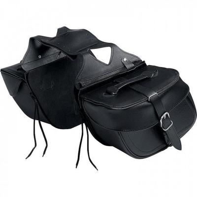 Sakwy skórzane na motocykl SPIRIT TEXAS Black, Czarna - poj. 2 x 13 litrów
